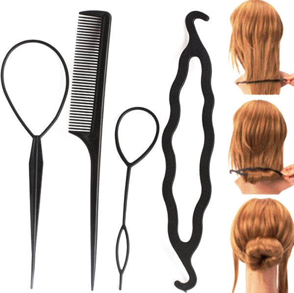 Thick Bun Clip Roll Hairstyling Toolset