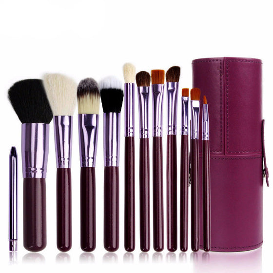 Lux Set Makeup Brushes [12 Pieces]