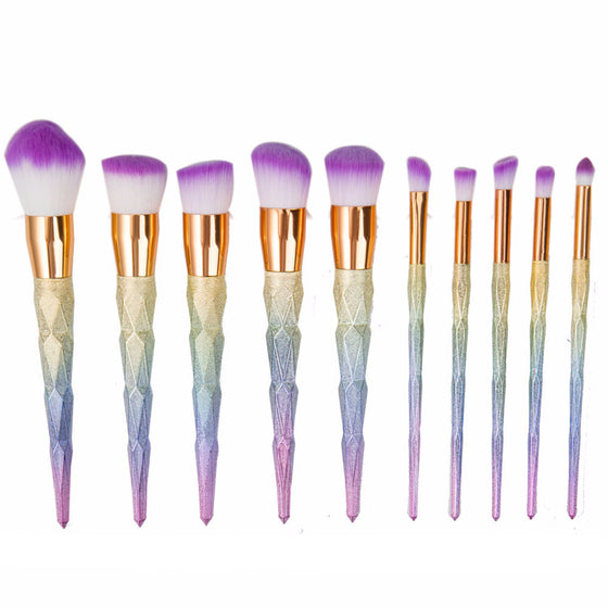 Ultimate Unicorn Makeup Brush Collection [Set of 10] [3 Variants]