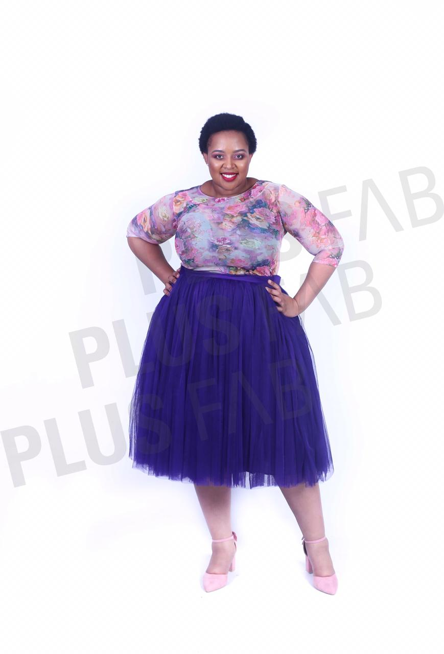 Short Tulle Skirt Purple