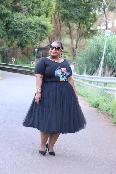 Short Tulle Skirt Black