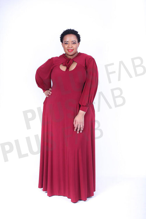 Brandy Dress(Maroon)