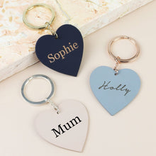 DS - Personalised Matt Heart Keyring - Beau's Boutique
