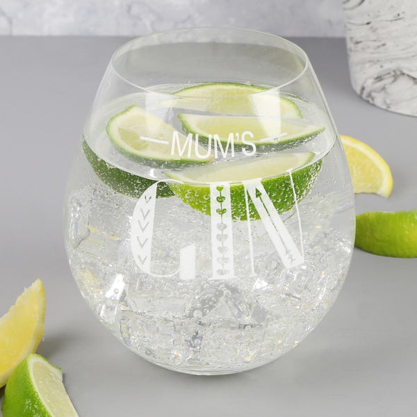 DS - Personalised 'Gin' Glass Tumbler
