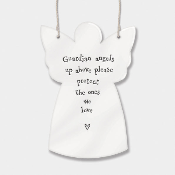 East Of India Porcelain Guardian Angel