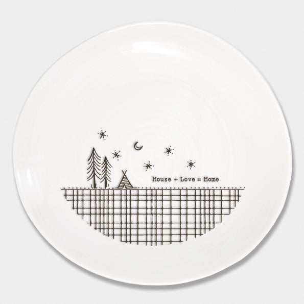 House + Love = Home 'Wobbly' Porcelain Plate - Beau's Boutique