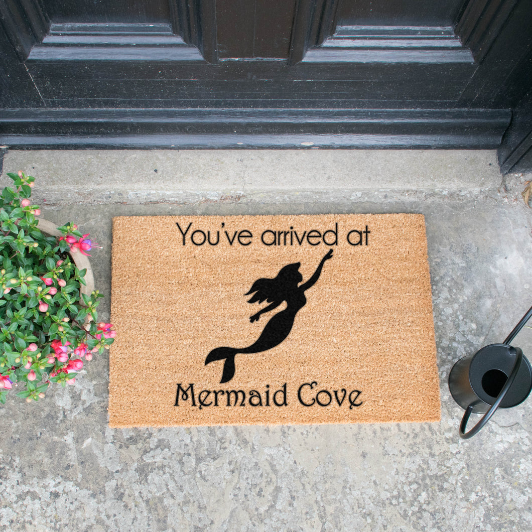 Mermaid Cove door mat - Artsy Door Mats - Beau's Boutique
