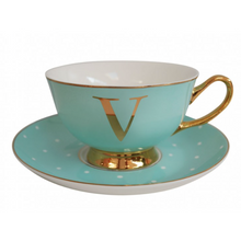 Alphabet Spotty Teacup and Saucers - Beau's Boutique