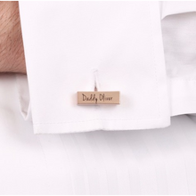 DS - Personalised Brushed Dipped Bar Cufflinks - Beau's Boutique