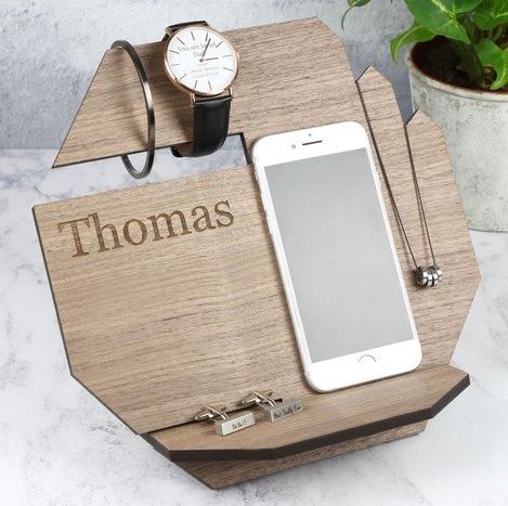 DS - Personalised Wooden Hexagonal Accessory Stand - Beau's Boutique