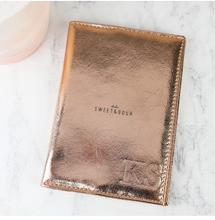 DS - Personalised Metallic Copper Passport Holder - Beau's Boutique