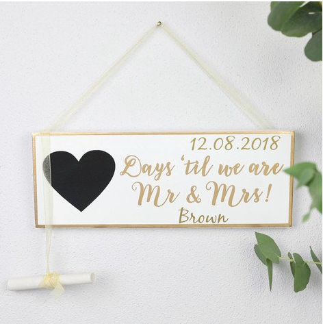 DS - Personalised Wedding Plaque - Beau's Boutique