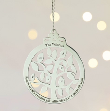 DS - Personalised Sterling Silver Family Tree - Beau's Boutique