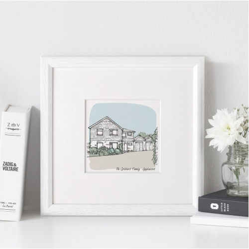 DS - Personalised House Portrait Small - Beau's Boutique