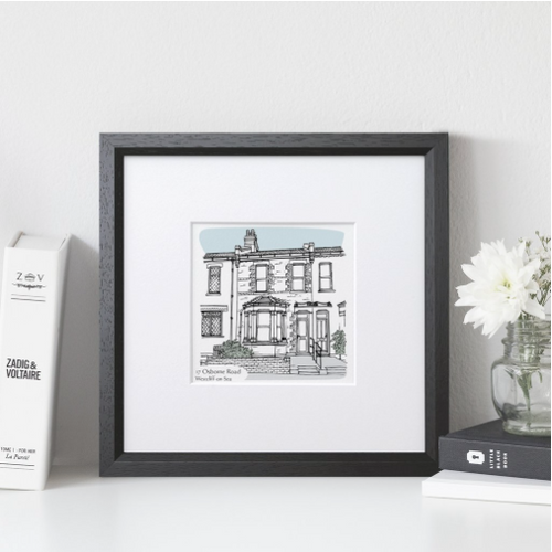 DS - Personalised House Portrait Medium - Beau's Boutique