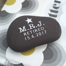 Gold or Silver Engraved Thank you Pebble
