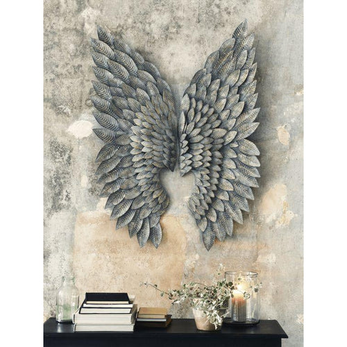 Feather Effect Metallic Wings - Beau's Boutique