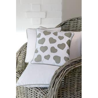 Grey Heart Cushion - Retreat Home - Beau's Boutique