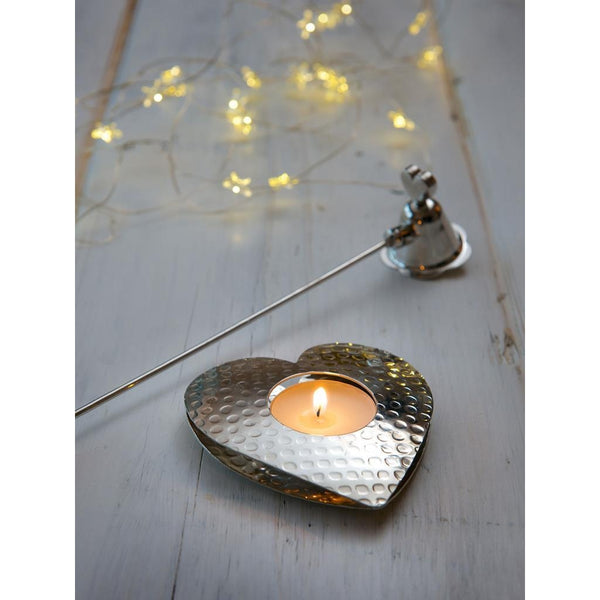 Heart Dimpled Tea Light Holder