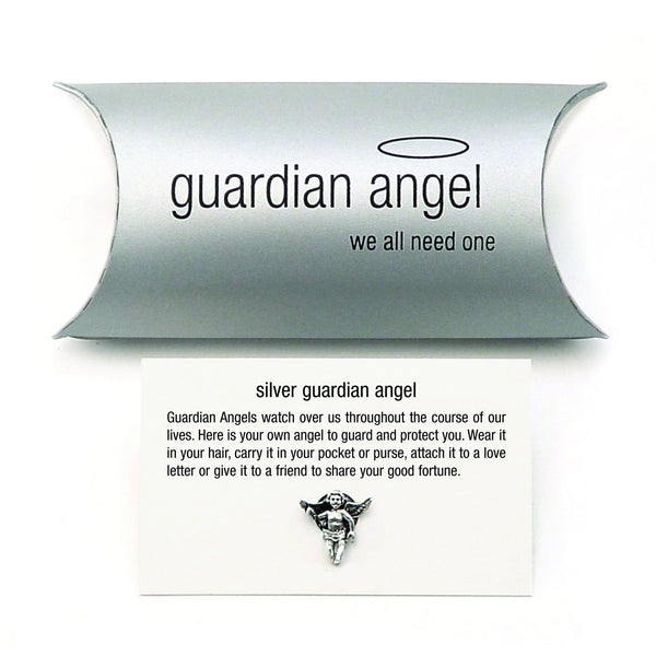 Silver Guardian Angel Charm (pillow pack)