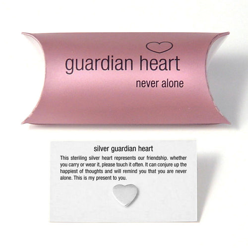 Silver Guardian Heart Charm (pillow pack) - Beau's Boutique