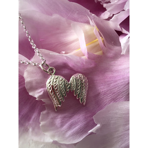 Sterling Silver Angel Wing Neckkace