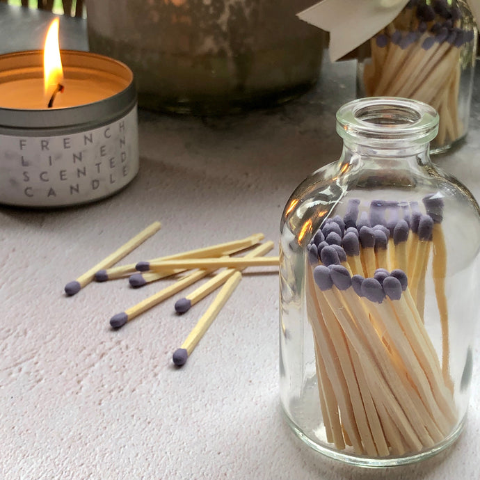 Glass Bottle Matches - Lavender