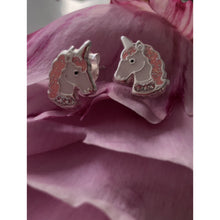 Sterling Silver Unicorn Head Earings
