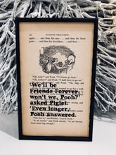 "Exclusive to Beau's Boutique - Winnie the Pooh ""Friends Forever"" Framed Quote - Book Page Print"