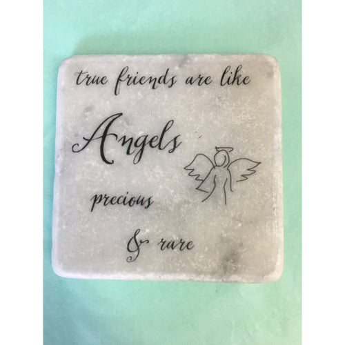 Quoted Coasters - True friends are like Angels Precious and Rare - Beau's Boutique