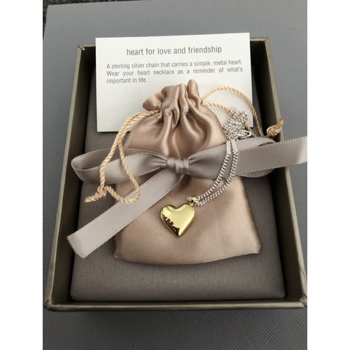 Small Heart 'Love and Friendship' Necklace - Tales From the Earth - Beau's Boutique