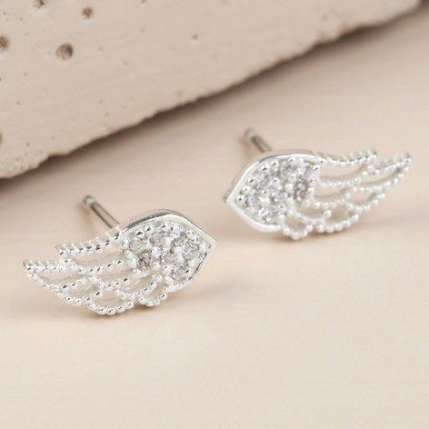 Angel Wing Diamanté Earings