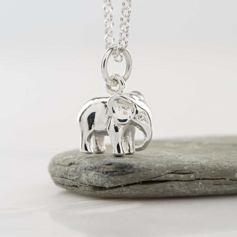 Sterling Silver Elephant Necklace - Beau's Boutique