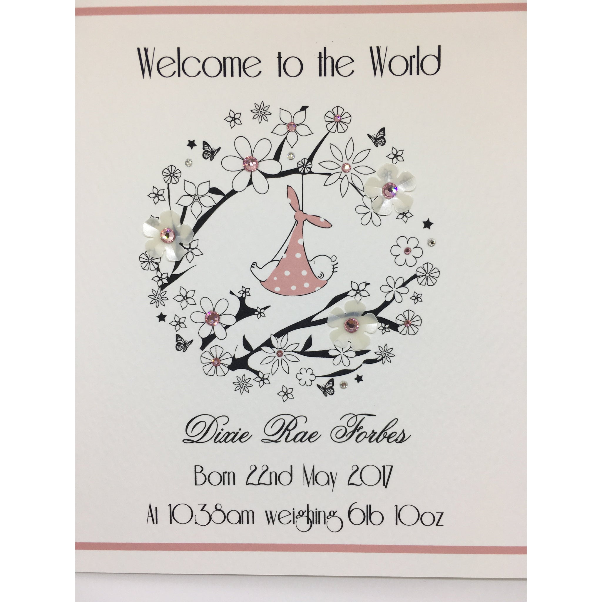 Five Dollar Shake Personalised Baby Card
