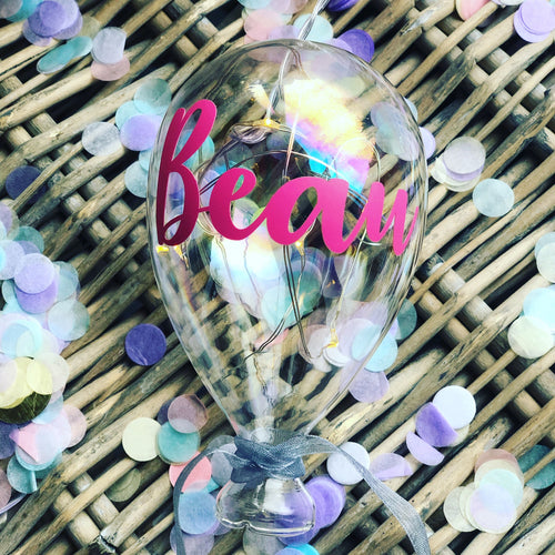 Personalised Small Glass Balloon Light