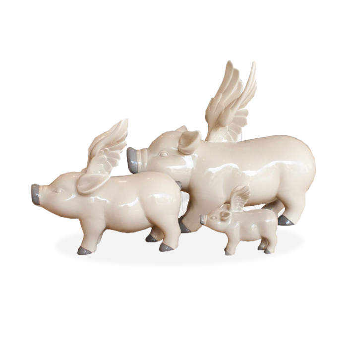 Set of 3 Flying Pigs - Beau's Boutique