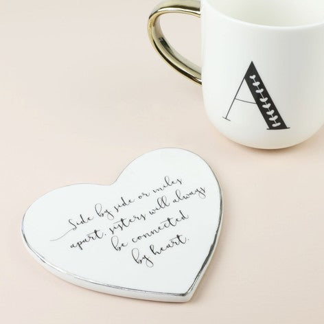 Sister Quote Heart Coaster Beaus Boutique