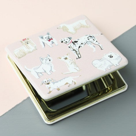 Watercolour Dog Compact Mirror - Beau's Boutique