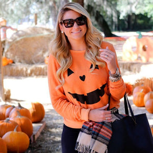 Halloween party pumpkin sweater