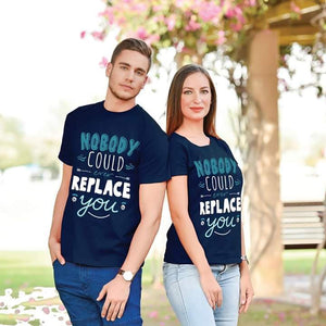 Valentine's Nobody Could Replace You Trendy Couple Tees
