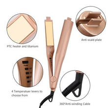 Hair Curler and Straightening Iron 2-in-1
