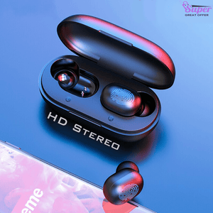 Fingerprint Touch HD Stereo Bluetooth Earphones