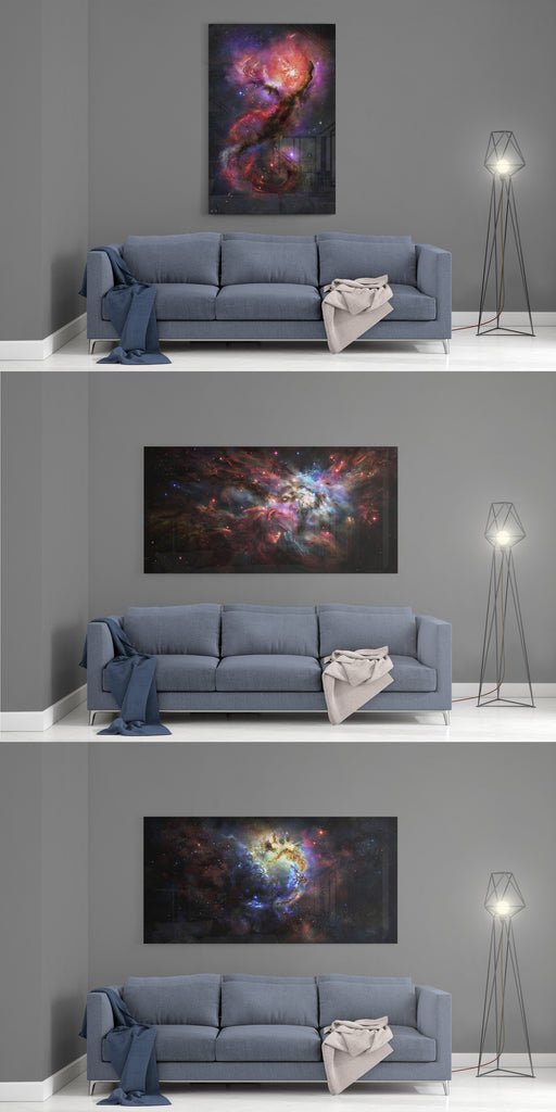 COLLECTION BUNDLE - ALL THREE PAINTINGS, THIRD PIECE FOR FREE - Nebula Encounters