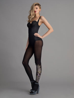 Bloomingday - Floral leggings - Patterned Women stockings - Vday 2021 - Valentines day ideas - Shop Leg Appeal