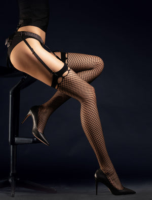 Burlesque 30 - Patterned Tights - Fishnet Thigh Highs - Sexy lingerie - Women tights - Valentines day ideas - Shop Leg Appeal