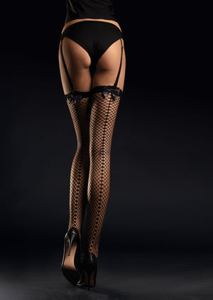 SATINE 30 - THIGH-HIGH STOCKINGS