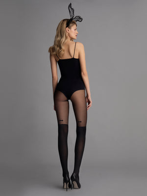 VINTAGE BOW - ILLUSION THIGH-HIGH TIGHTs