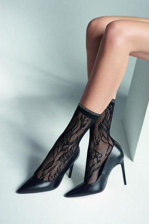 Charly S50 - Sexy lace Floral Socks - Women SOCKS - Vday 2021 - Valentines day ideas - Shop Leg Appeal