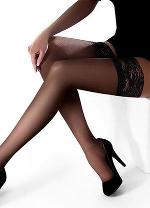 Classic  Black Thigh high Stay Ups - Erotic Sheer - Women THIGH-HIGHS - Sexy hosiery -  Valentines day 2021 - Gift for her - Shop Leg Appeal