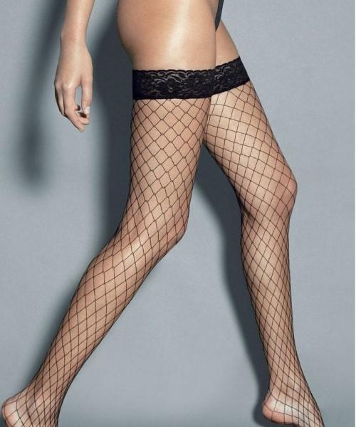 Large Fence Fishnets - Thigh-high Stay-Ups